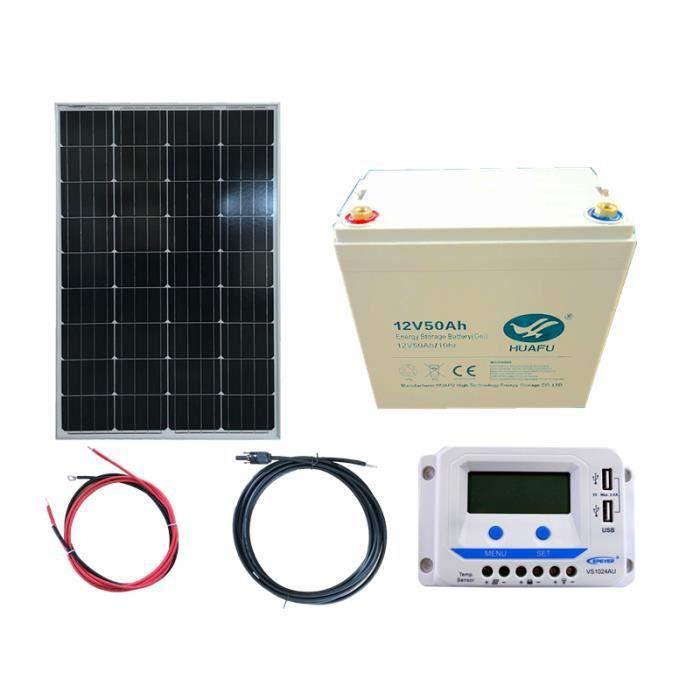 kit solaire 100w 12v pwm epever autonome avec batterie 600w