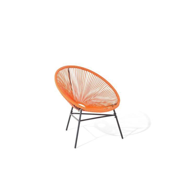 Salon de jardin couleur orange - Achat / Vente pas cher