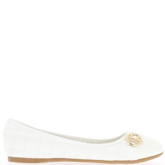 Ballerines blanches aspect cuir …