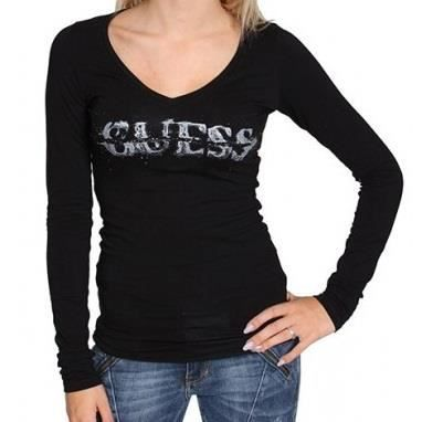 tee shirt femme guess manche longue,Tee shirt femme manches longues Calvin  Klein,Guess,Bikkembergs,Dolce ... 7c5fdd47cfa9