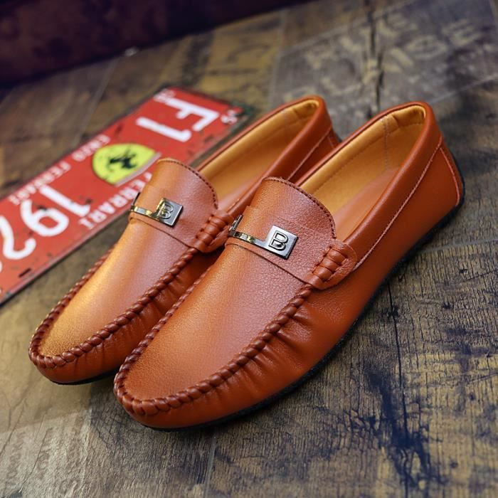 46e6f1db9587 Homme Mocassins cuir Casual Chaussure Business Chaussure Pilotes ...