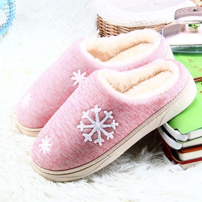 Pantoufles L'hiver garde les pantoufles de coton chaudes