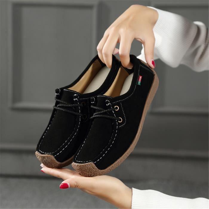 Chaussures plates Femmes personnalité Antidérapant Moccasins Série printemps et automne Chaussures pour Femme Plus De Couleur