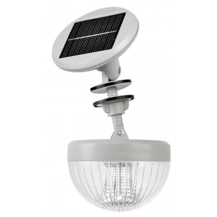 lampe solaire pour abri de jardin bois m tal et plastique. Black Bedroom Furniture Sets. Home Design Ideas