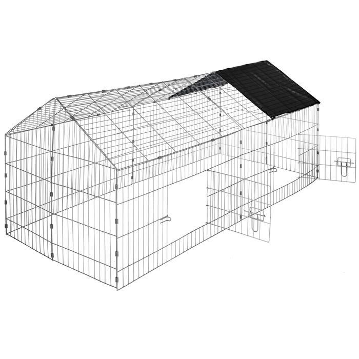 Cage clapier enclos parc d ext rieur lapins et petits for Parc exterieur pour chat