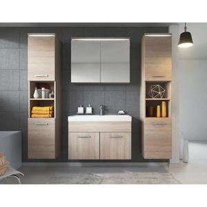 Meuble salle de bain chene clair achat vente meuble for Meuble de salle de bain xl