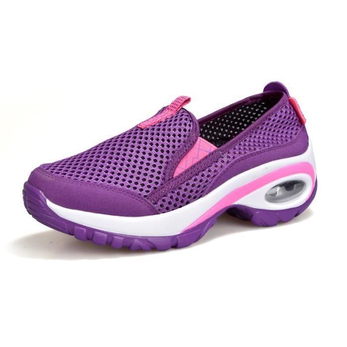 Slip-on Casual femmes Chaussures de sport fond épais