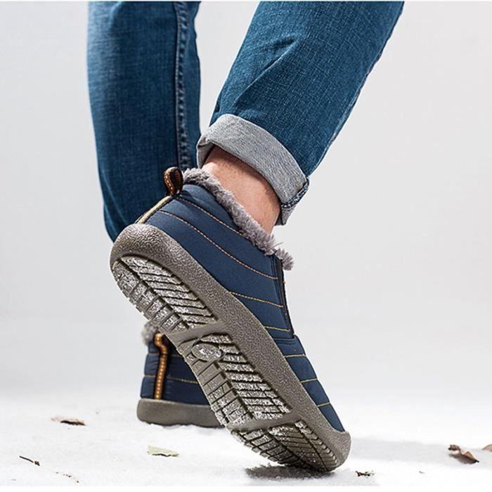 Bottes pour Hommenoir 8.5 Chaussures Homme populaires Chaussures Hivernales courtes Chaussures Chaussures étanches_52988