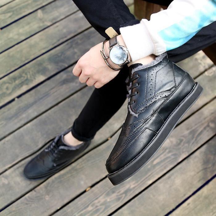 Botte Homme Vintage de luxe Matin hommes noir taille7 ri6hdb
