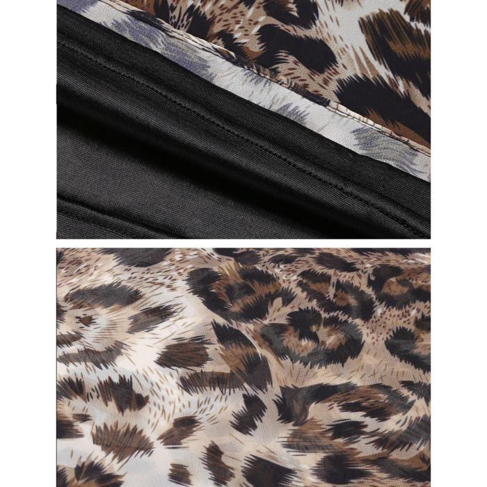 Robe de Femme épaules froides demi manche en mousseline de soie en patchwork A-line