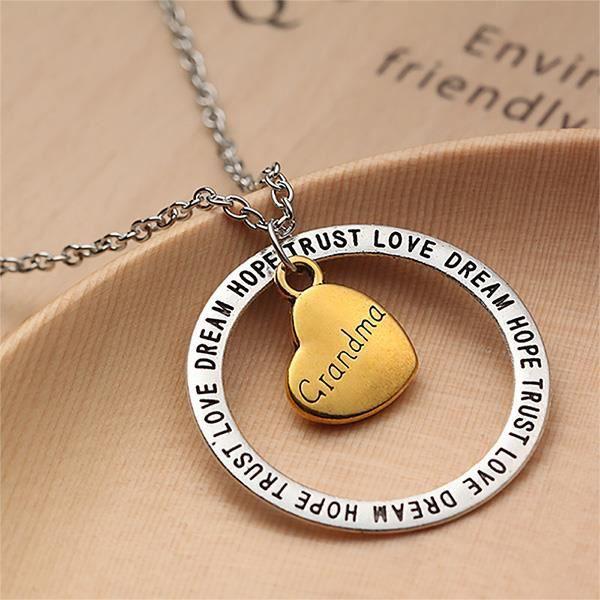 Glamorousky Pendentif grandma coeur creux simple coeur avec collier (24476)