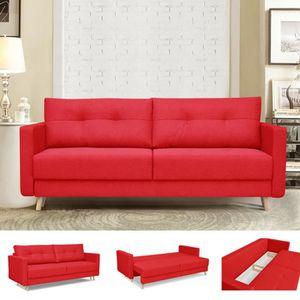 canape convertible lit 3 places achat vente canape. Black Bedroom Furniture Sets. Home Design Ideas