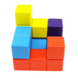 CASSE-TÊTE Puzzle en bois casse-tête Cube Tetris créatif joue