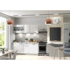 Meuble bas de cuisine blanc laque - Achat / Vente Meuble bas de ...