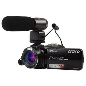 CAMÉSCOPE NUMÉRIQUE Caméscope Full HD avec Zoom Optique 10X, Zoom Numé