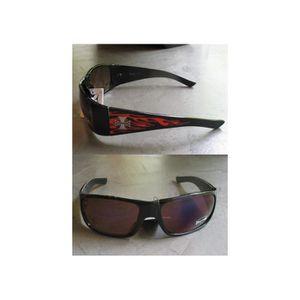 hotrodspirit - lunette de soleil choppers logo flamme + chrome noir homme QC7aouGDrZ