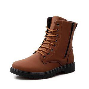 Hommes Bottes Printemps Automne Hiver Homme Chaussures Cheville Botte Hommes Chaussures de Neige Travail DGGris foncé WE210 jmrlO4lGhl