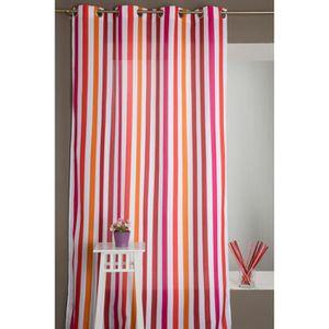 rideaux rouge et blanc achat vente rideaux rouge et blanc pas cher cdiscount. Black Bedroom Furniture Sets. Home Design Ideas