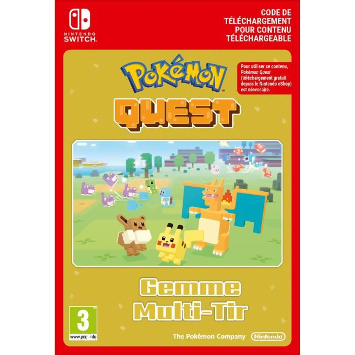 DLC Pokémon Quest - Gemme Multi-Tir - Code de Téléchargement pour Nintendo Switch