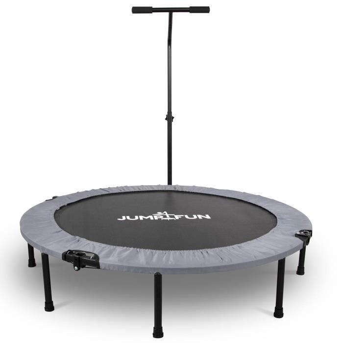 Mini Trampoline Fitness Jump4fun T-Bar Pliable 122cm Gris