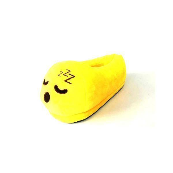 Emoti pantoufles expression endormie jouets en peluche chaudes émotions mignonnes hiver chaussures pantoufles adultes neutres