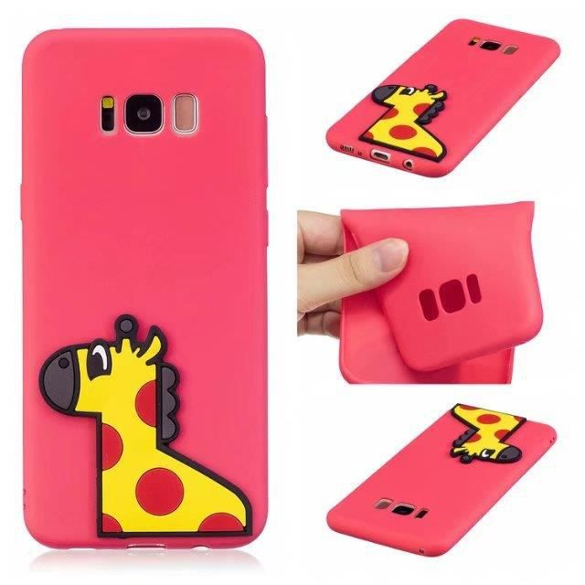 Coque Iphone 5 Dessin Anime Kawaii Mignon Rose Coquille De Girafe
