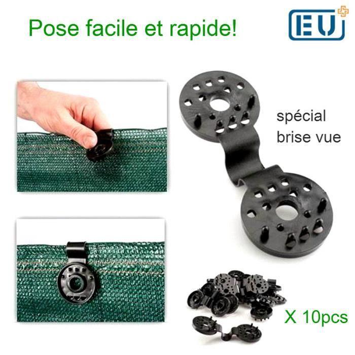 clip de fixation pour brise vue x10 pcs - achat / vente parasol
