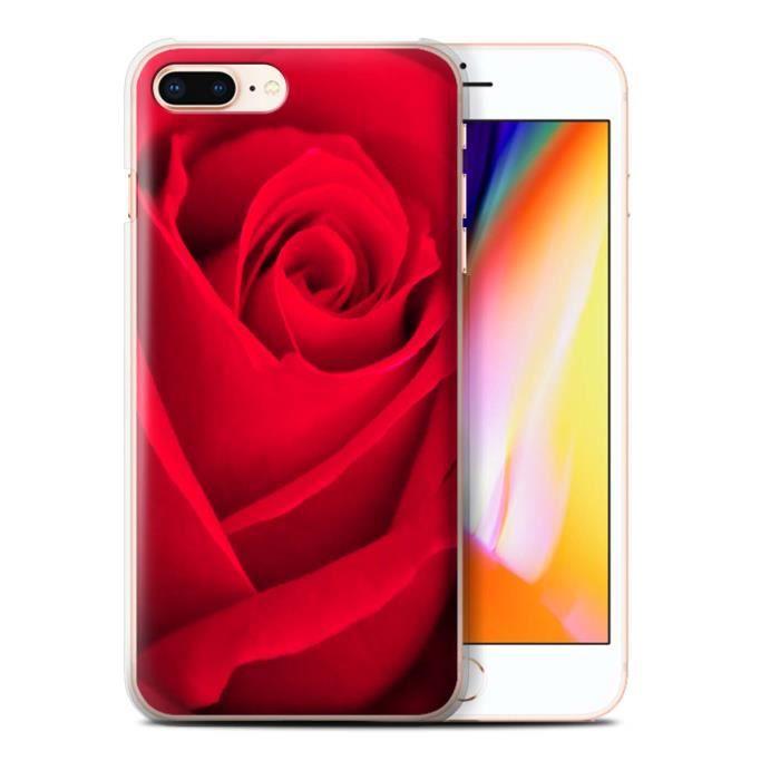 coque iphone 8 plus rose rouge