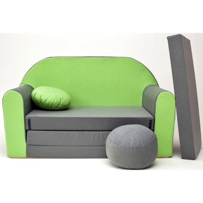 fauteuil canap bb sofa enfant 2 places se transforme en un