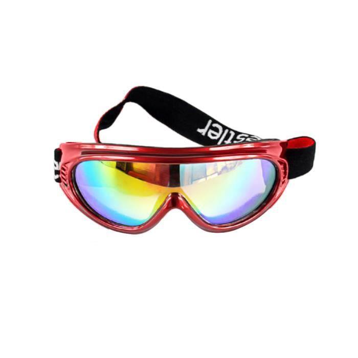dd74cc6a19507 Lunettes de Ski Cyclisme Enfant Lunettes Coupe-vent Filtre d aération  Résistance aux UV 400 Verres à Coloré Monture de Lunette Rouge