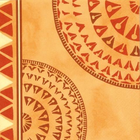Lot de 2 serviettes en papier motif africain achat - Presentation serviette de table ...