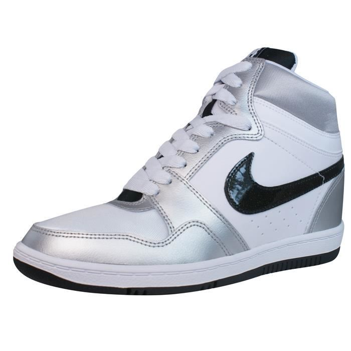 info pour 84fa2 f7eaf Nike Force Sky High femmes Wedge… Blanc / argent - Achat ...