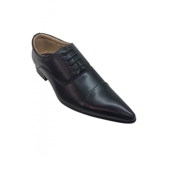 chaussure pointu pour homme noire noir achat vente richelieu soldes d s le 10 janvier. Black Bedroom Furniture Sets. Home Design Ideas