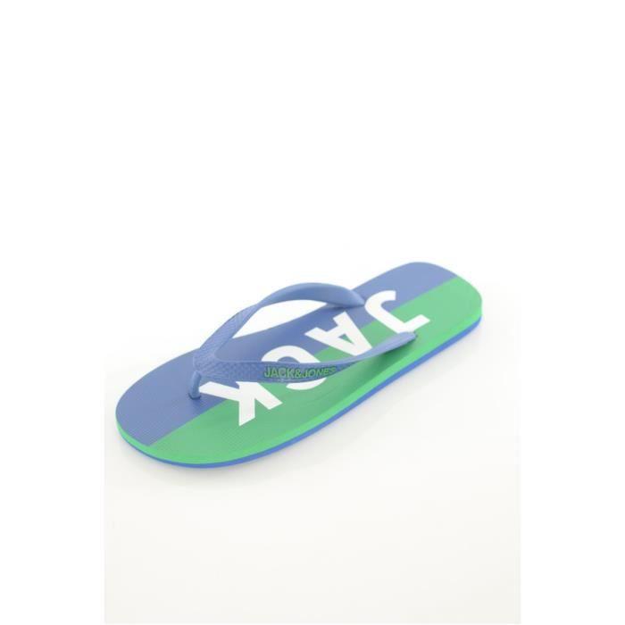 Tongs printées Logo -JACK & JONES Bleu Homme Mo6Gkc2e4