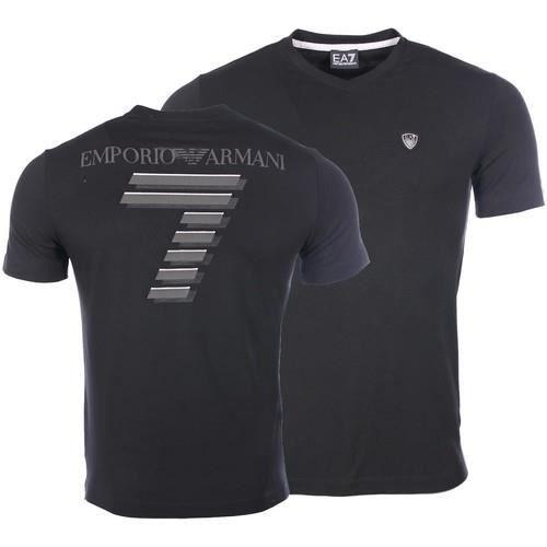 EA7 EMPORIO ARMANI T-shirt Homme - Slim - Col rond - Manches courtes - Noir 28503949900