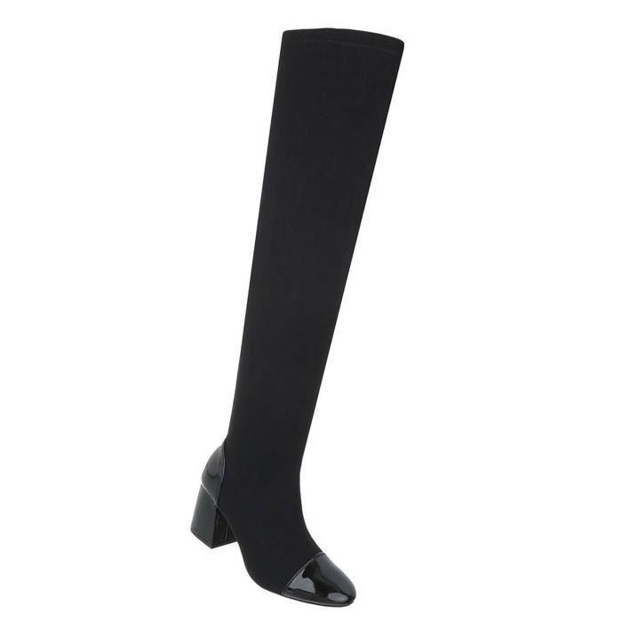 Chaussures femmes Bottes Overknee moderne noir 41 SgbOZG