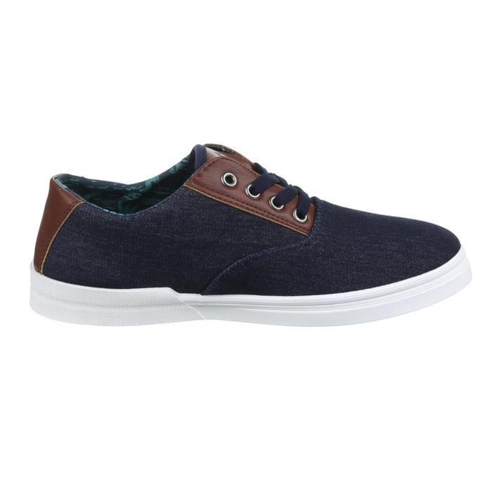 homme chaussures flâneurs Sneakers loisirs chaussures Bleu foncé 42 mcw1y