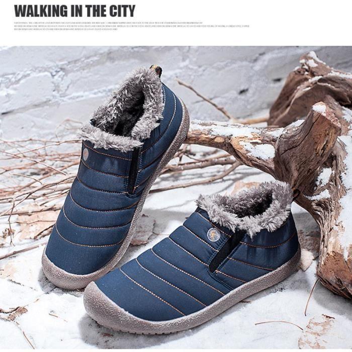 étanches Chaussures populaires 8 Chaussures Homme 52987 courtes Chaussures Hivernales Bottes Chaussures pour Hommebleu qWR4ZPU