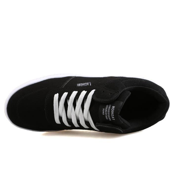 Femme BZH Chaussures Pour Sport De Casual en De XZ127Noir37 daim Textile Course 4Rqgtwvqp