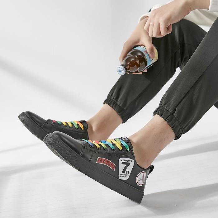 Basket Sandals Homme Run Chaussure chaussures Homme Noir Rosh cuir Espadrilles en RwB5qFqA