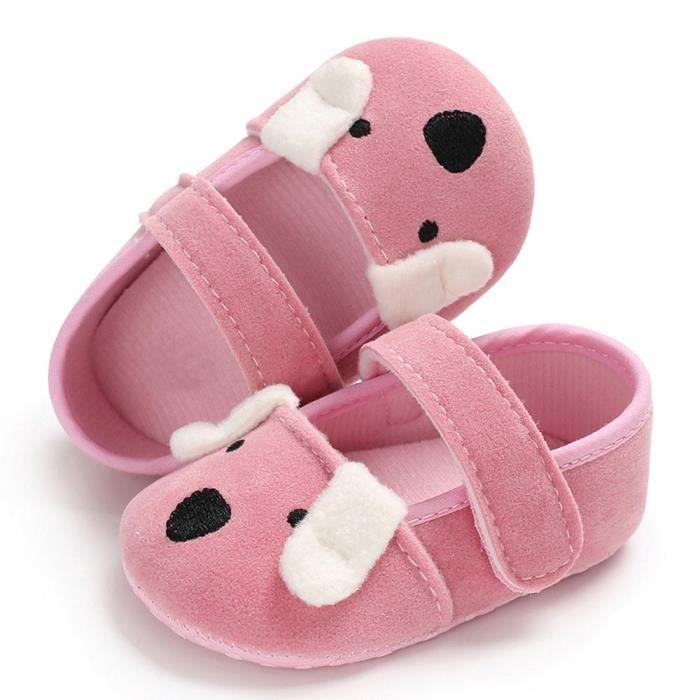 Chaussures Enfants Rw Enfant n Semelle 100rose Nouveau Nourrisson Douce Bb Fille WU748F