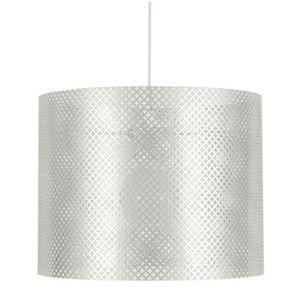 LUSTRE ET SUSPENSION LACY Lustre - suspension en Blanc - Hauteur 23 cm.