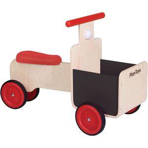 PORTEUR - POUSSEUR PLAN TOYS Jeu en bois Tricycle avec bac