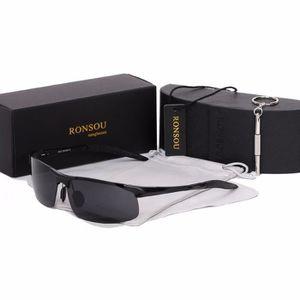 LUNETTES DE SOLEIL Ronsou Hommes Sport Al-Mg Polarisées lunettes de S 5a457e37dc13
