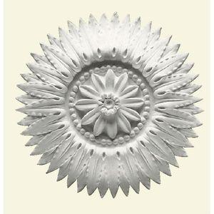 Coeur de rosace en plâtre armé. Diamètre 31.5cm. Style Empire ...