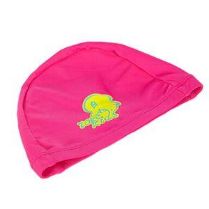 Tricoté piscine Lovely Dolphin enfants Caps bébé Bonnet de bain,Rose Rouge 77fde643624