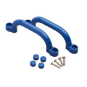 AGRÈS DE BALANÇOIRE Jeu de 2 poignées en plastiques bleues Swing King