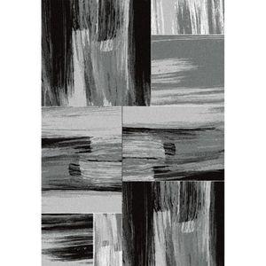 TAPIS Tapis de salon Lima  gris et noir 200x290 cm