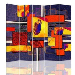 PARAVENT Feeby Décoration Paravent d'intérieur sur toile, 5