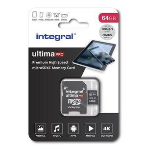 CARTE MÉMOIRE Integral Carte Mémoire 64Go Micro SDXC Premium Hau